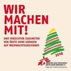 Das Logo der Weihnachtsspendenaktion von Ärzte ohne Grenzen.